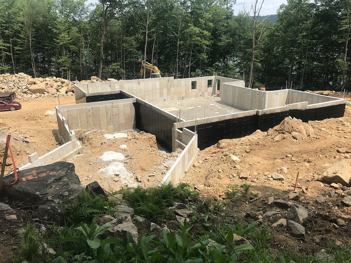 Foundation walls complete