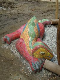 Schlafender Drache in Mosaik