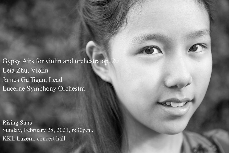 Leia Zhu with James Gaffigan and Lucerne Symphony Orchestra 28 Feb 2021 KKL Lucerne