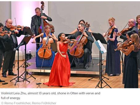 Oltener Tagblatt Newspaper Review Leia's Performance