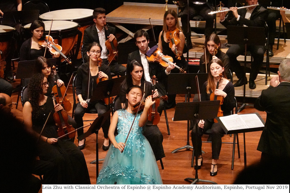 Leia Zhu with Classical Orchestra of Espinho @ Espinho Academy Auditorium, Espinho, Portugal Nov 2019