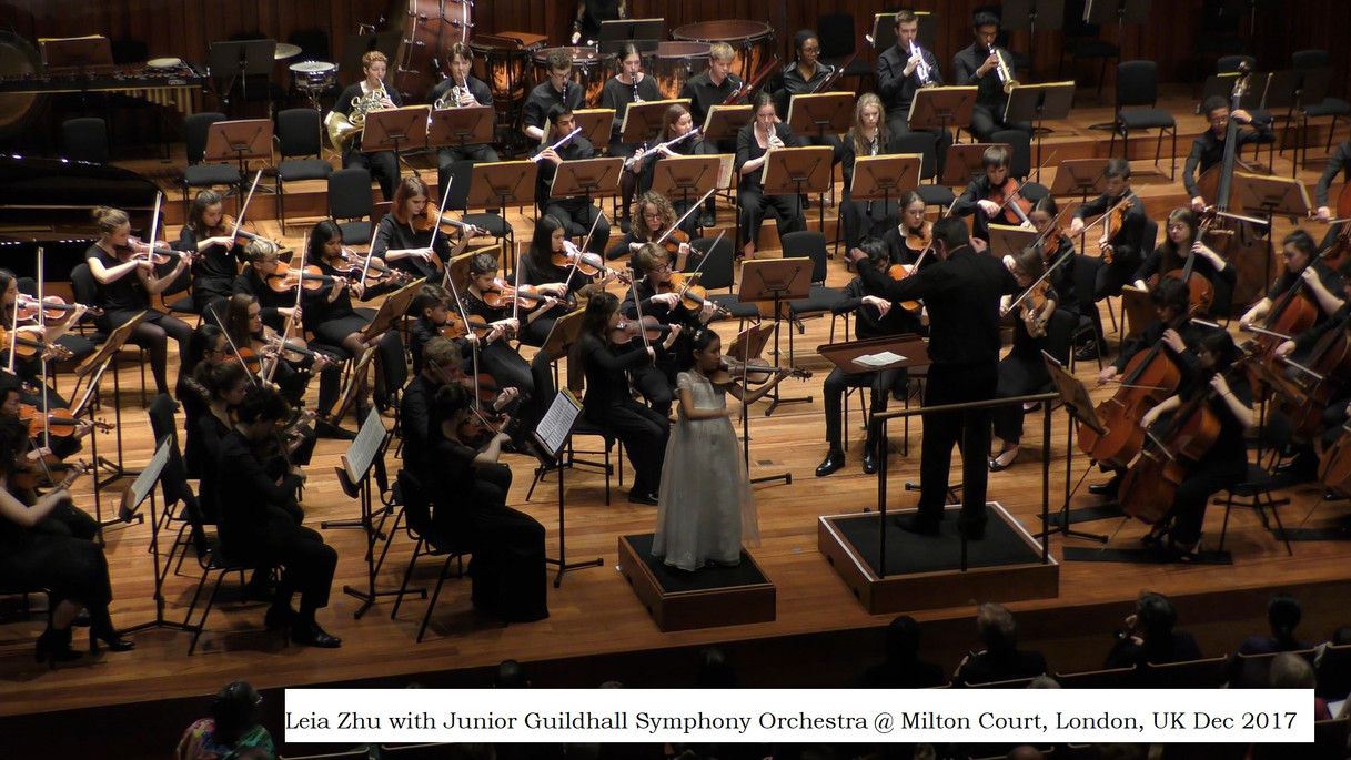 Leia Zhu with Junior Guildhall Symphony