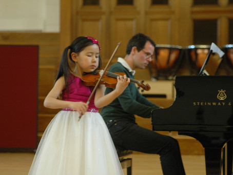 Violinist Leia Zhu (7) Performs at Amaryllis Fleming Concert Hall in Royal College of Music