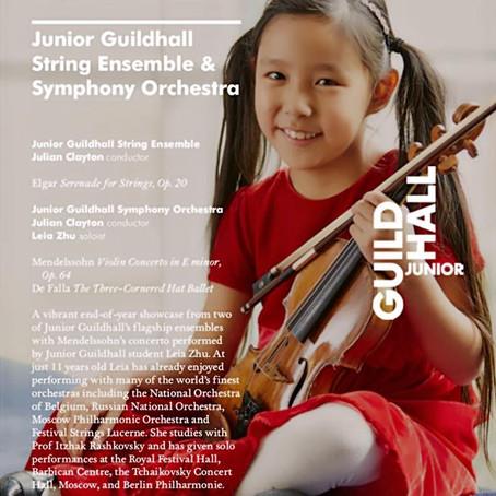 Leia Performed Mendelssohn Violin Concerto in E Minor in Milton Court London