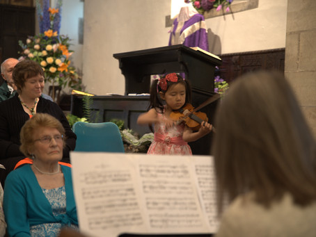 Young Violinist Leia Zhu was Invited to Perform at Chollerton Church Flower Festival