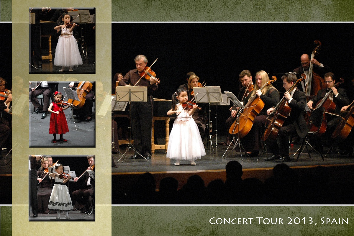 Leia Zhu with @ CCC Orchestra 9-City Spain Tour Jan 2013