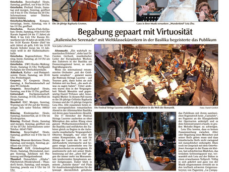 Leia's Performance Received a Stellar Review From Osterhofener Anzeiger