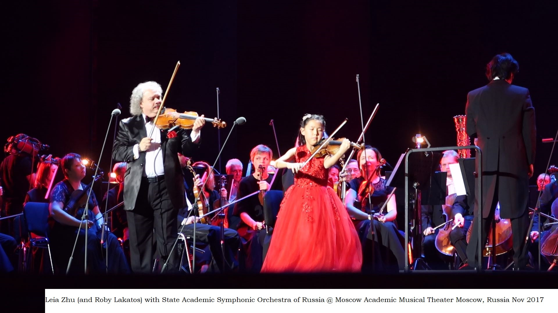 Leia Zhu with State Academic Symphonic Orchestra of Russia @ Moscow Academic Musical Theater Nov 2017