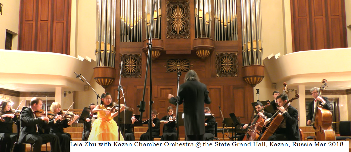 Leia Zhu with Kazan Chamber Orchestra Orchestra