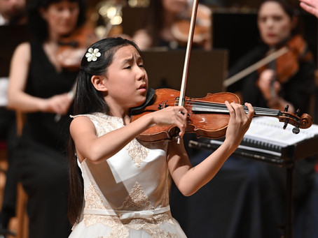12-year-old Violinist Leia Zhu Concerto  Debut With Marrinsky Theatre Orchestra at Mariinsky Theatre