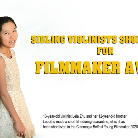 Violinist Leia Zhu Shortlisted for Filmmaker Award