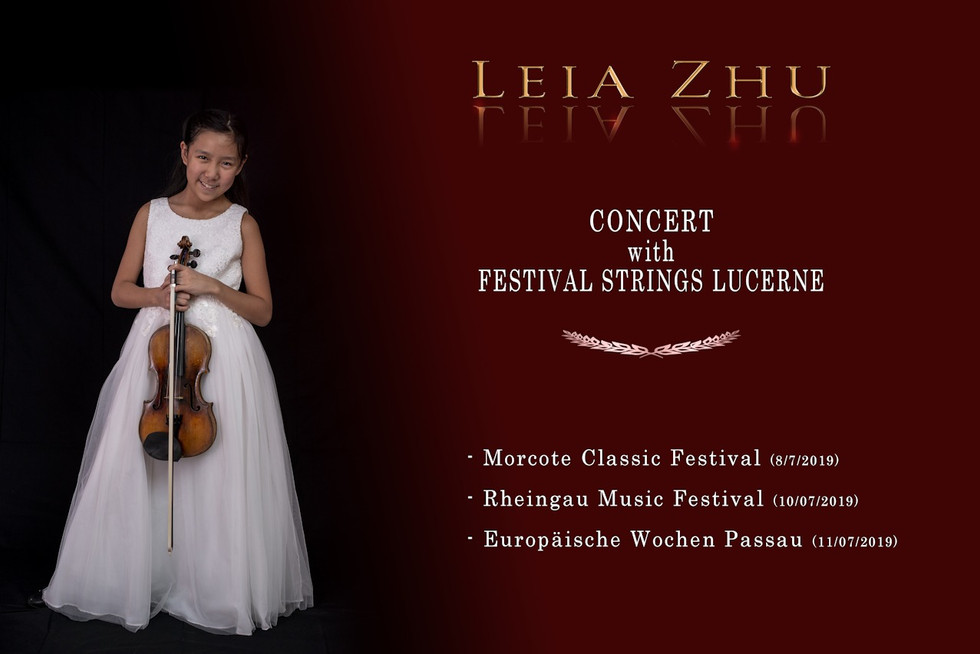 Leia Zhu in 3 Festivals with FSL July 20