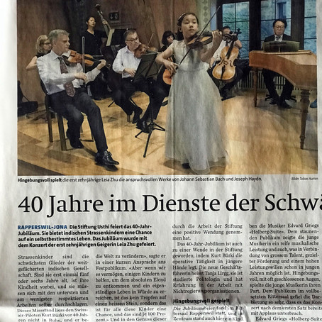 Violinist Leia Zhu Performs with Zurich Chamber Orchestra in Rapperswil Castle