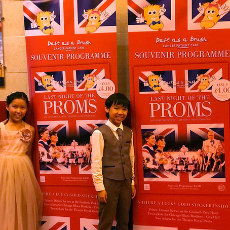 Violinist Leia Zhu with Her Brother Leo Returns NE Last Night of the Proms