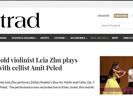 When young violinist Leia Zhu met the great Ida Haendel