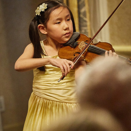 Violinist Leia Zhu Performs at Charity Event in the Prestigious Harmonie Club New York