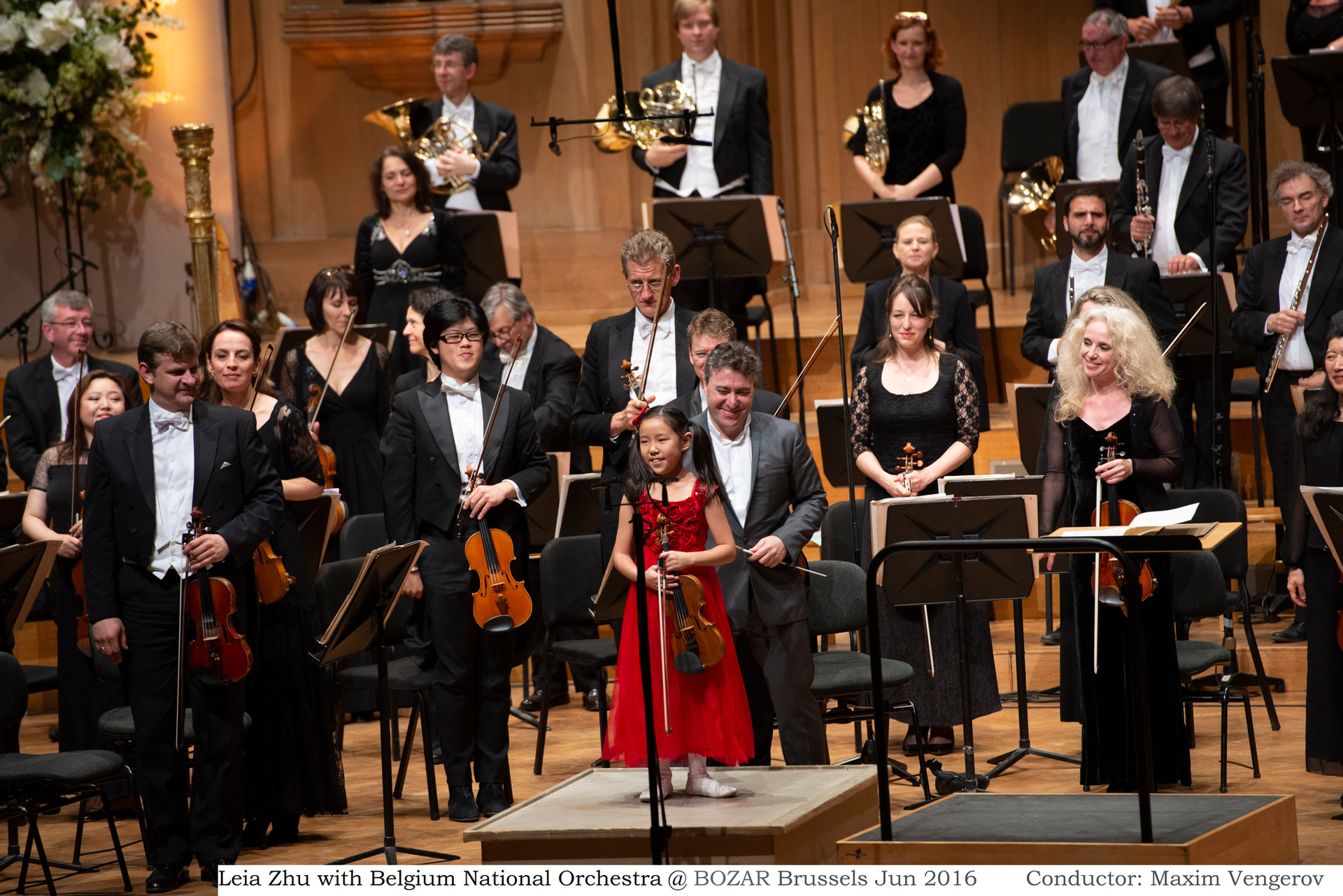 Leia Zhu with Belgium National Orchestra @ BOZAR Brussels Jun 2016