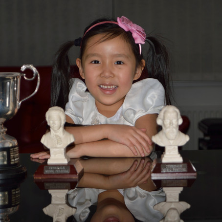 6-year-old violinist Leia Zhu numerous performances in the Last Couple of Months