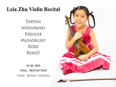 Violinist Leia Zhu (8) Gives Recital in Switzerland