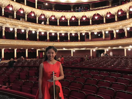 Leia was Invited to Perform at Golden Violins of Odessa, Odessa, Ukraine