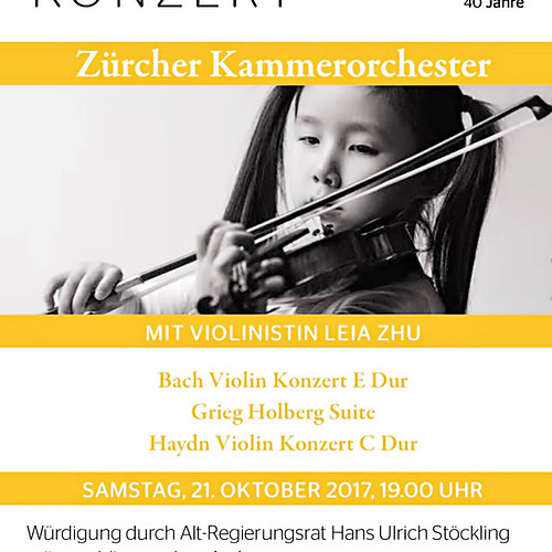 10-year-old Leia Zhu | Zurich Chamber Orchestra