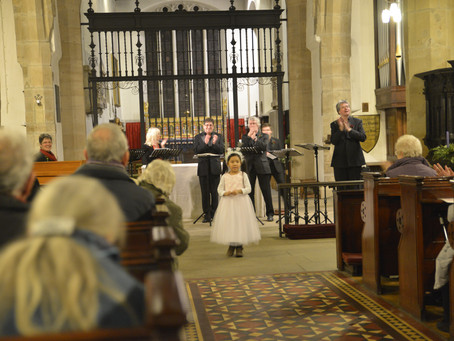 Young Violinist Leia Zhu Delights the Audience at Christmas Concert at St John's Church Newcastle