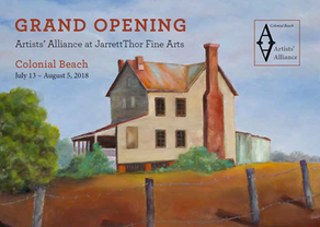 ARTISTS' ALLIANCE – COLONIAL BEACH NORTHERN NECK ARTISAN TRAIL -  AUGUST, 2018