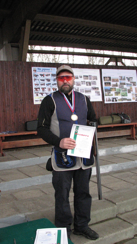 Победитель в личном первенстве на Круглом стенде Маренков Валерий
