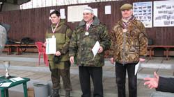 Чемпион и призеры на траншейном стенде (Ивашевский Д.-2 место, Лакеев В.-1 место_ Галкин Г.-3 место