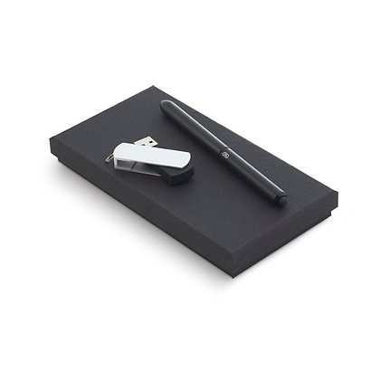 Kit Esferográfica e Memória USB