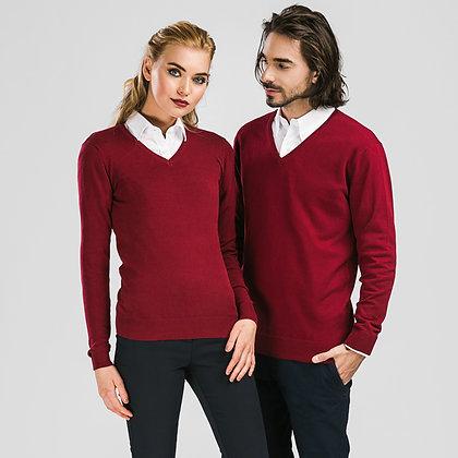 "MILAN. Pullover decote em ""V"" para mulher"