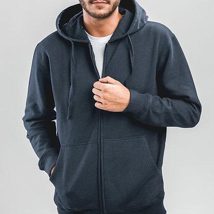 AMSTERDAM. Sweatshirt para homem, com fecho e capuz