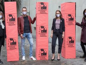 Fast 20'000 Unterschriften für die Elternzeit | Der Bund, 30.04.2021