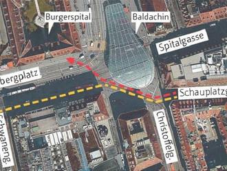 Pro Velo will mehr Velostreifen am Bahnhof | BZ, 16.10.2014