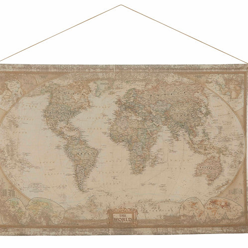 World Map Hanging Wall Decor