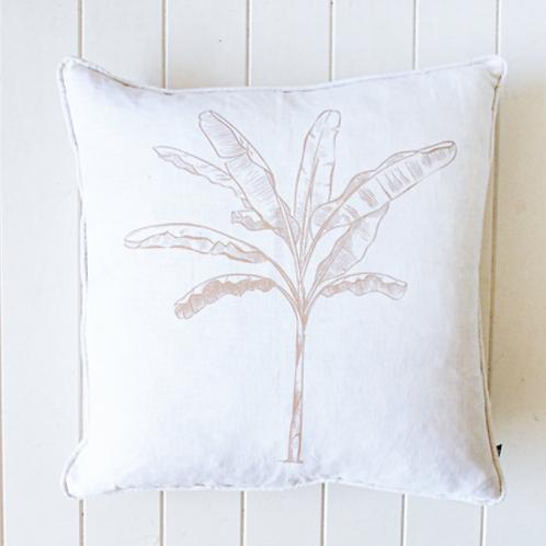 Cushion - White Banana Palm