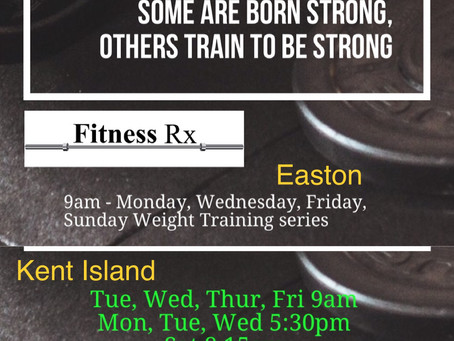 NEW Weight Training/ Strength Series of Classes