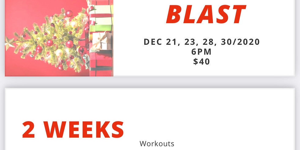 Easton 2 Week Merry Fitness Blast  $45 for personal training