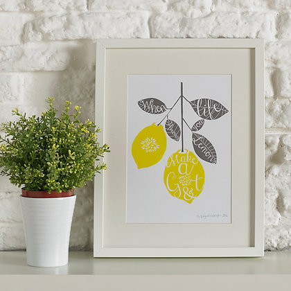 Gin And Tonic Screen Printed Wall Art