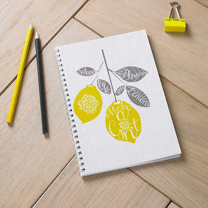 Lemon Gin And Tonic Notebook