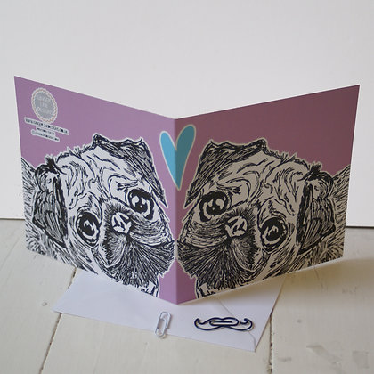 Pug Dog Greetings Cards