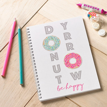 Donut Worry Be Happy Notebook
