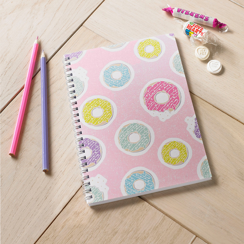 Doughnuts Spiral Bound  Notebook Journal