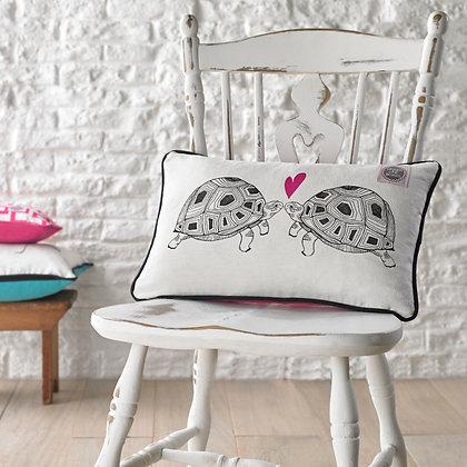 Tortoise Screen Printed Rectangle Cushion