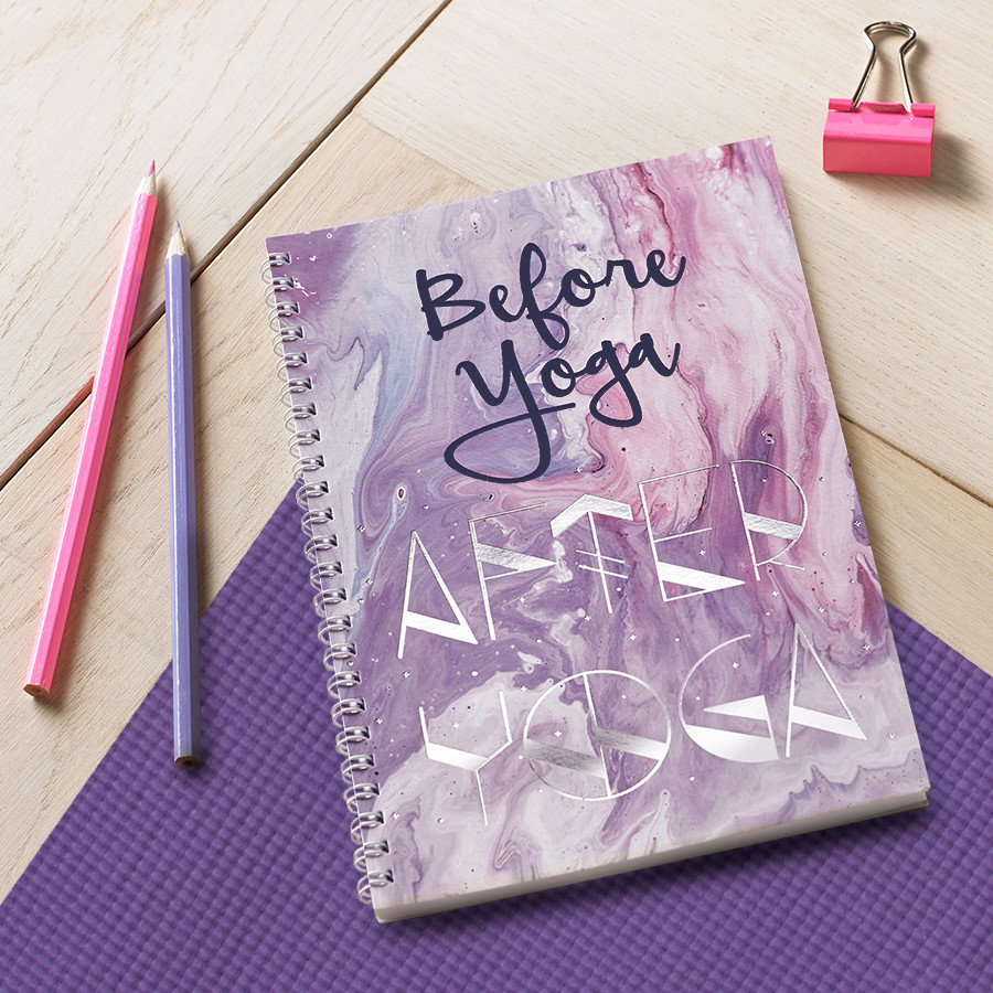 Before Yoga, After Yoga Metallic Journal