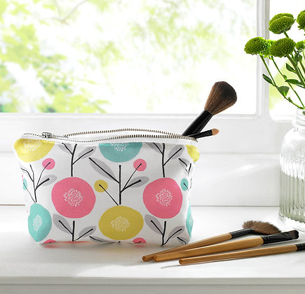 Scandi Floral Cosmetic Bag
