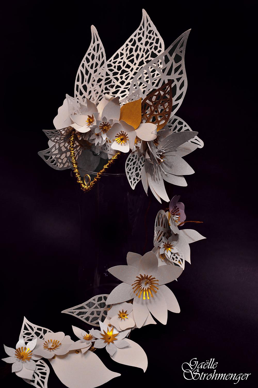 """Accessoire """"Coiffe Papierblumen"""""""