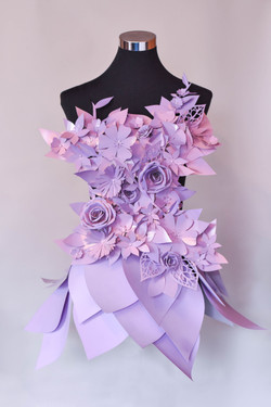"""Outfit """"Blumenkleid-lila"""""""