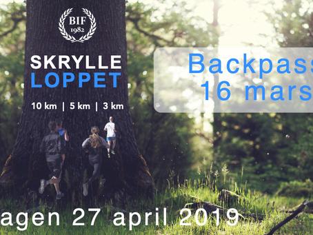 Backpass inför Skrylleloppet 16 mars