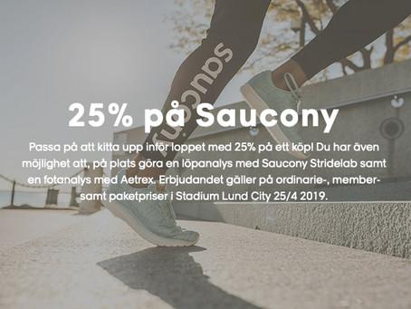 25% på Saucony